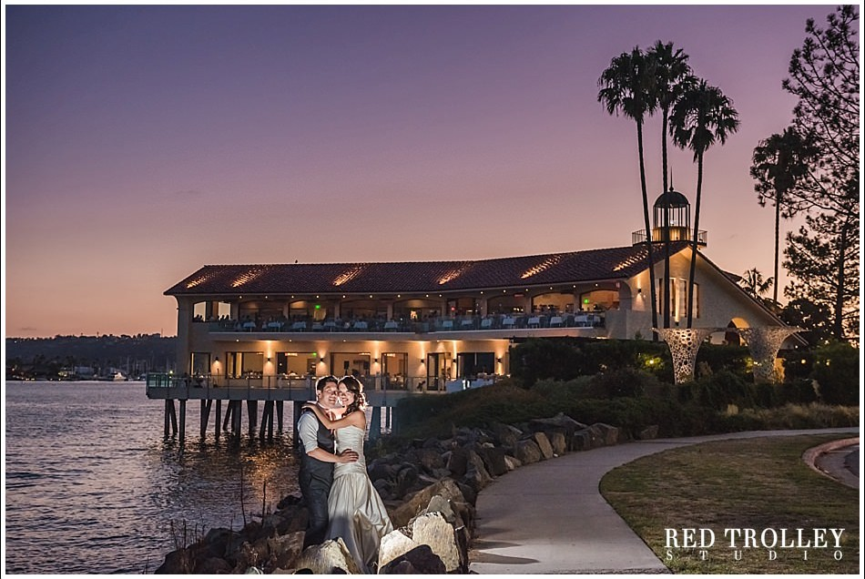 Wedding In Tom Ham's Lighthouse San Diego | Wing and Michael