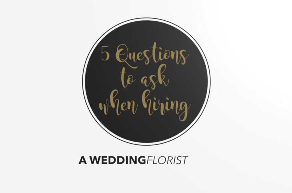 5 Questions to ask when hiring a florist for your wedding | Camellia Wedding Flowers